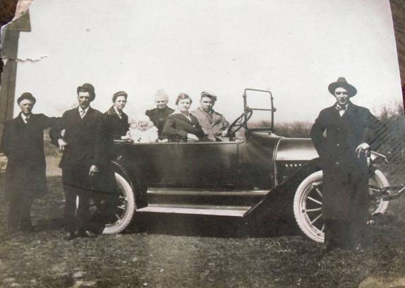 Photograph of the Werth Family Car
